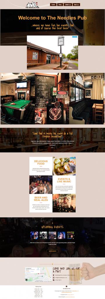 The Needles Pub Mockup Website